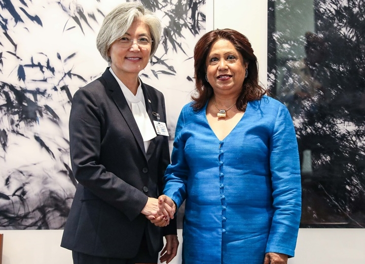 FM Meets with Special Representative of UN Secretary-General on Sexual Violence in Conflict on Occasion of 74th Session of UN General Assembly