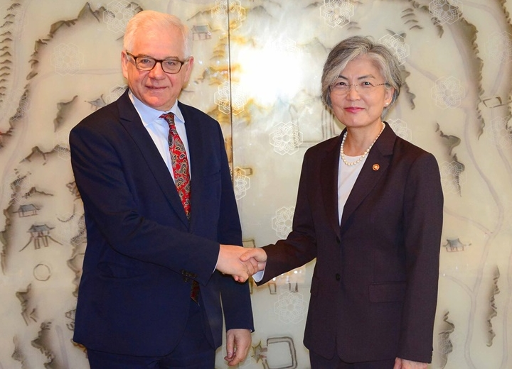 ROK-Poland Foreign Ministers' Meeting Takes Place