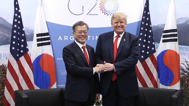 The President and U.S. President Donald Trump Hold Summit