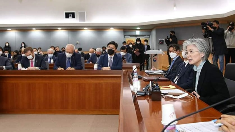 2nd Briefing Session on ROK Government's Response to COVID-19 Held for Diplomatic Corps in ROK