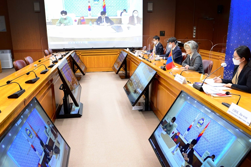 Korea-Mongolia Foreign Ministers' Meeting Held in Virtual Format