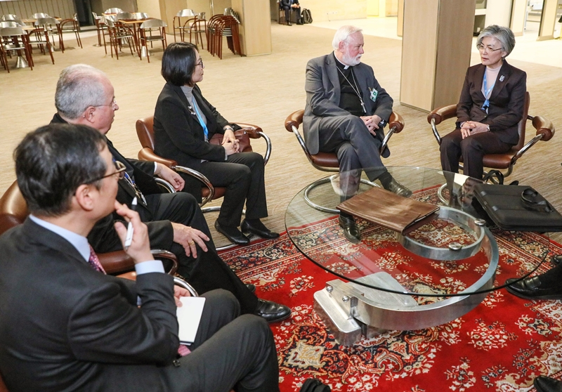 1. On the occasion of the High-Level Segment of the UN Human Rights Council, Foreign Minister Kang Kyung-wha met with Archbishop Paul Gallagher, the Secretary for Relations with States of the Holy See, on February 25, and discussed the situation on the Korean Peninsula.