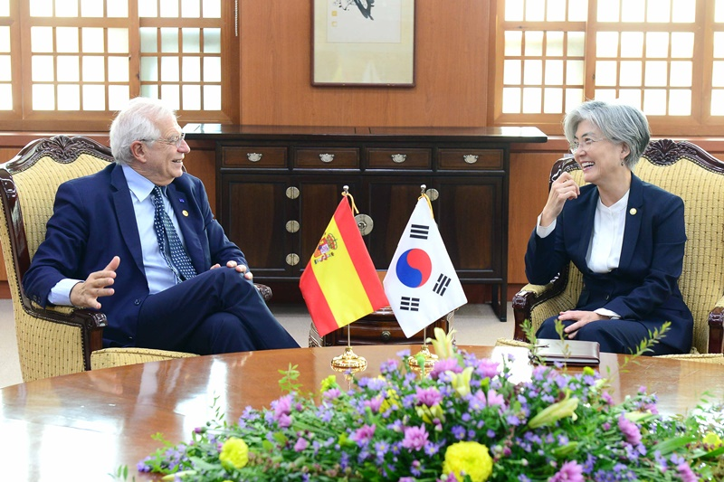 ROK-Spain Foreign Ministers' Meeting Takes Place