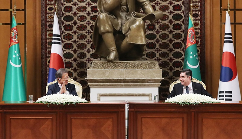 Remarks by President Moon Jae-in at Joint Press Conference Following ROK-Turkmenistan Summit