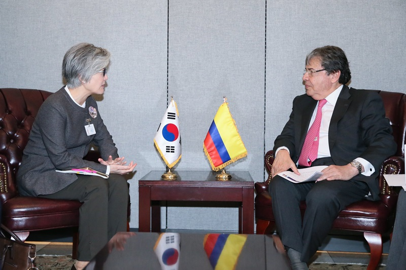 Foreign Minister Meets Bilaterally with her Counterparts from Three Latin American Countries (Cuba, Argentina and Colombia) on Occasion of UN General Assembly (Sep. 26-27)