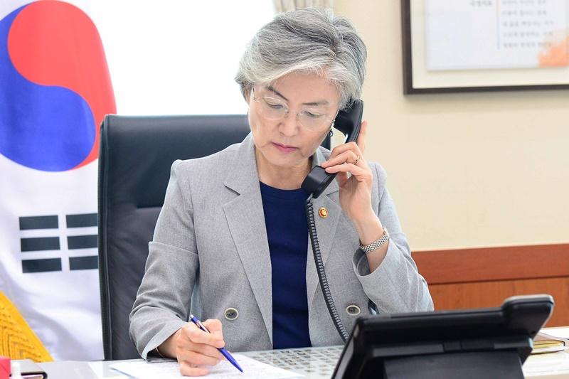 한일 외교장관 통화