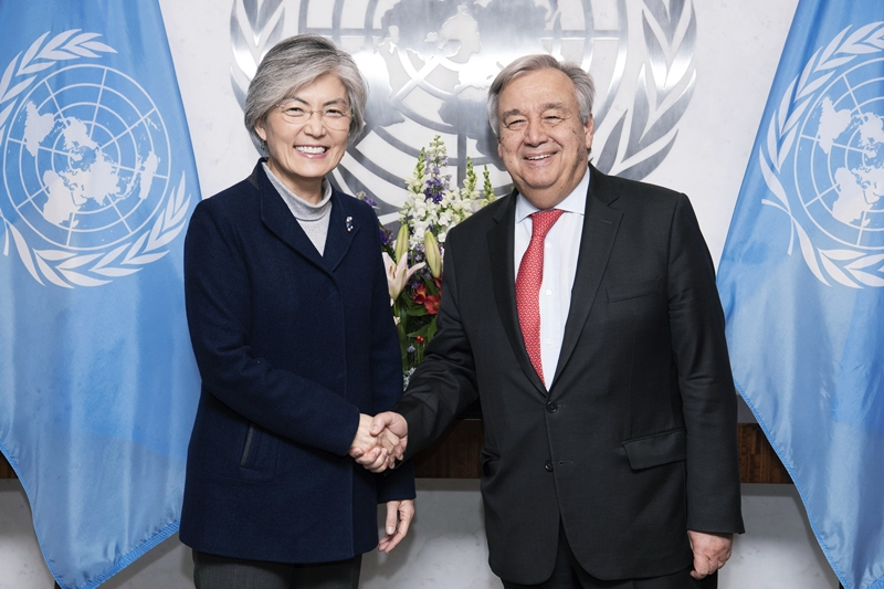 Foreign Minister Meets with UN Secretary-General Guterres and Deputy Secretary-General Mohammed